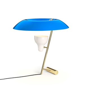 Astep Model 548 Table Lamp Brass/Blue