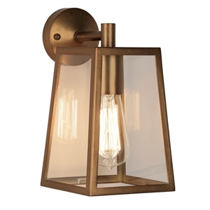 Astro Calvi Outdoor Light Wall Light Antique Brass