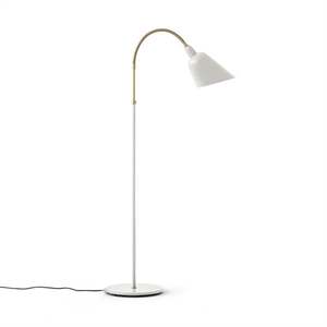 &tradition Bellevue AJ7 Floor Lamp Ivory White & Brass
