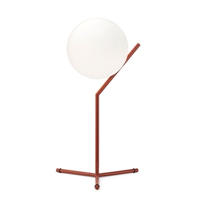 Flos IC T1 Tall Table Lamp Red Burgundy