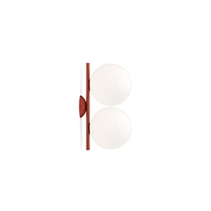 Flos IC C/W1 Double Wall Lamp Red Burgundy