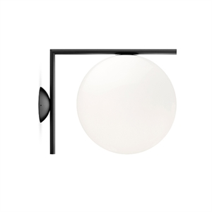 Flos IC Wall and Ceiling Lamp in Matt Black