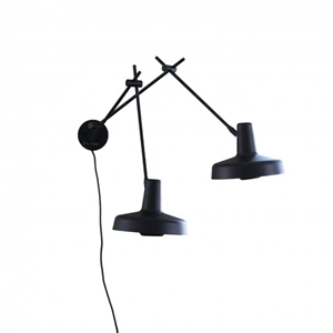 Grupa Products Arigato Wall Light Double Black