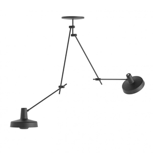 Grupa Products Arigato Ceiling Lamp Double Long Black