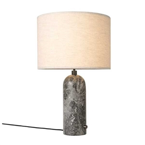 GUBI Gravity Table lamp Grey Marble & Canvas Shade Large ...