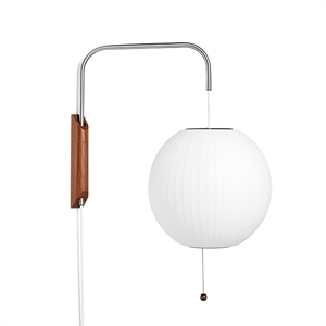 HAY Nelson Ball Wall Light Small White W/cord