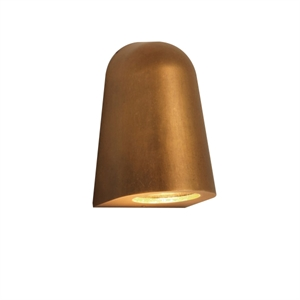 Astro Mast Light Coastal Wall Outdoor Light LED Antique Brass