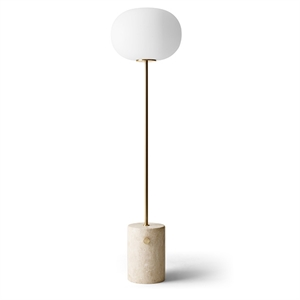 MENU JWDA Floor Lamp Travertine Marble & Brass