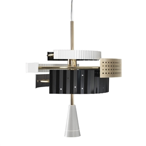 TATO Wallie chandelier Brass/White & Black