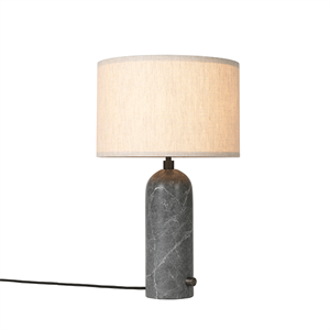 GUBI Gravity Table lamp Grey Marble & Canvas Shade Small