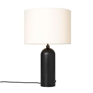 GUBI Gravity Table lamp Blackened Steel & White Shade ...