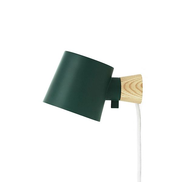 Normann Copenhagen Rise Wall Lamp Petroleum Green
