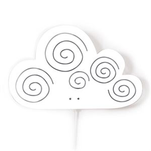 roommate Cloud Silhouette Wall lamp White