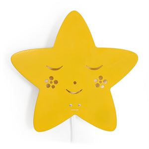 roommate Star Silhouette Wall lamp Yellow