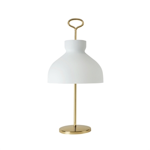 TATO Arenzano Table Lamp White & Brass
